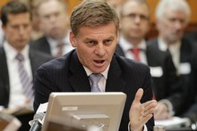 Finance Minister Bill English said he spoke with Fitch Ratings people last week, but did not know they were about to downgrade New Zealand's credit rating. Photo / Mark Mitchell