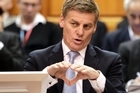 Finance Minister Bill English is sticking with the same economic approach, despite the double downgrade. Photo / Mark Mitchell