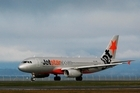 Jetstar chief executive David Hall said the airline was breaking the monopoly on a seventh domestic route. Photo / Greg Bowker