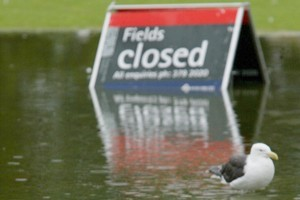 Waterlogging causes a 20 per cent cancellation rate for Auckland's winter sports games. Photo / Martin Sykes