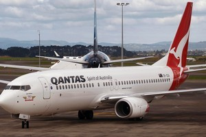 Qantas Transport Union Workers will stop work for an hour on Friday, and customs officers are due to take industrial action on Thursday and Saturday. Photo /  Sarah Ivey