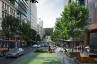 Artist Impression of Victoria Street West looking down toward Queen Street and Albert Park. Photo / Supplied