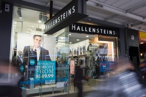 Clothing retailer Hallenstein Glasson Holdings has reported a 6.6 per cent decline in annual earnings. Photo / Paul Estcourt