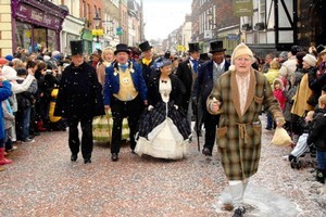 Dickens Christmas Market & Festival, Rochester, England. Photo / Supplied