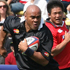 Jonah Lomu runs with the ball during the friendly match between the Japan XV and Classic All Blacks at Tokyo's Chichibunomiya rugby ground, 2007. Photo / Getty Images