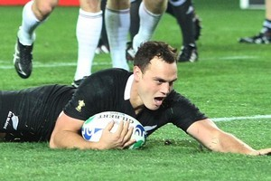 Israel Dagg had a man of the match performance against France. Photo / Greg Bowker