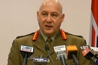 Lieutenant General Rhys Jones, Defence Force Chief detailing the attack which has killed another SAS soldier. Photo / TV3