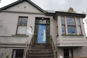 Residents of this Dunedin flat - called the Penguin - are in the running to be the biggest losers of the Next Top Flat competition. Photo / Otago Daily Times