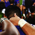 The Samoan team huddle after the Pool D match between South Africa and Samoa. Photo / Getty Images