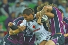 Manu Vatuvei was part of near flawless Warriors performance in Melbourne last night. Photo / Getty Images