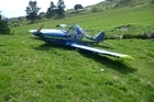 This home built plane crashed into farmland about 15km south of Whakatane shortly after 10am today. Photo / supplied