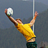 Scott Higginbotham of the Wallabies handles the line-out. Photo / Getty Images