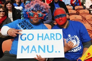Samoa supporters during the team's clash with Wales. Photo / Getty Images