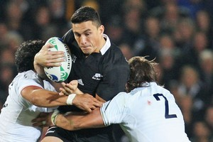 Sonny Bill Williams in action against France. Photo / Getty Images