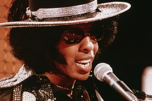 Sly Stone in his '70s heyday. The funk legend is now living in his van. Photo / File