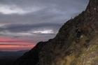Sunrise and Mt Hikurangi's summit is within reach. Photo / Vicki Virtue