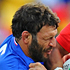 Andrew Ma'ilei of Tonga is tackled by Lionel Nallet of France. Photo / Getty Images