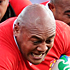 Soane Tonga'uiha of Tonga charges upfield. Photo / Getty Images