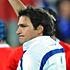 Fabrice Estabanez of France is shown the yellow card by referee Steve Walsh. Photo / Getty Images