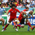 Felipe Contepomi of Argentina is tackled by Giorgi Chkhaidze of Georgia. Photo / Getty Images