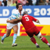 Marcelo Bosch of Argentina is tackled by David Kubriashvili of Georgia. Photo / Getty Images