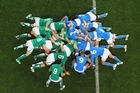 Skin-tight jerseys may not be helping the amount of collapsed scrums that occur. Photo / Getty Images
