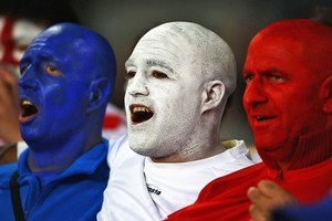 France fans overjoyed with their team's performance against England.  Photo / Getty Images