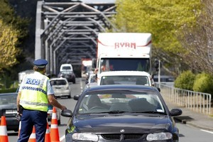 The man blew well over the legal drink-drive limit at a checkpoint in Huntly and was breaching the terms of his learner's licence, police say. Photo / Christine Cornege