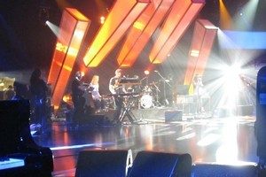 Pajama Club during a camera test on the set of  Later... with Jools Holland . Photo / Charlotte Ryan