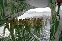 A haka farewelled slain New Zealand Lance Corporal Leon Smith in Afghanistan. Photo / Supplied
