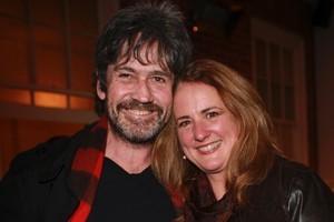 Wendyl Nissen with her husband Paul Little. Photo / Norrie Montgomery