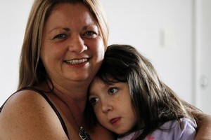 Jenn Hooper with daughter Charley who has severe cerebral palsy after birth difficulties. Photo / Christine Cornege
