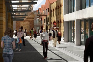An artist's impression of the refurbished Victoria Park Market. Photo / Supplied