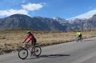 Cycling the Colca Canyon. Photo / Cycle Peru