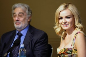 Placido Domingo and Katherine Jenkins are performing in Christchurch to raise money for the quake-ravaged city's arts community. Photo / AP