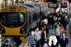 Auckland's Britomart train station during morning rush hour. Photo / Doug Sherring