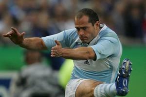 Argentina's Felipe Contepomi is calm under pressure. Photo / Brett Phibbs