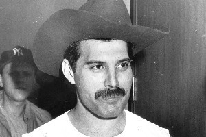 Freddie Mercury in Auckland 1985. Photo / NZ Herald