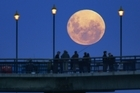 Full moon: Lunar phases are only a minor influence on fishing, a university study says. Photo / Simon Baker
