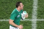 Tommy Bowe, of Ireland, tested Italy's defence. Photo / Greg Bowker