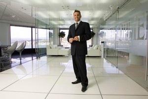 Terry Serepisos, in a 2007 file photo taken at his Century City Developments office in Wellington. Photo / Mark Mitchell