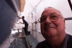 Ron Brown, sales manager, Altex Yacht and Boat Paints. Photo / Richard Robinson