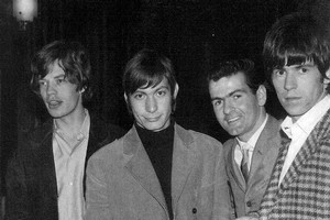 Bill Wyman, Brian Jones, Mick Jagger, Charlie Watts, Neil Collins and Keith Richard. Photo / Neil Collins