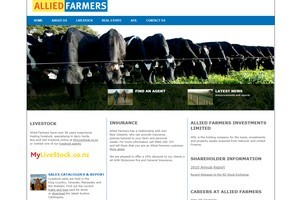 The Allied Farmers website. Photo / Supplied