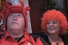 Fans of Wales and Ireland talk up their teams ahead of the match in Wellington.