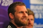 Kieran Read talks to the media ahead of the All Blacks quarter-final clash with Argentina on Sunday. Photo / getty Images