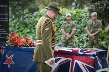 The service to honour Lance Corporal Leon Smith, the SAS trooper killed in a firefight near Kabul last week, took place in Auckland today. Photo / supplied