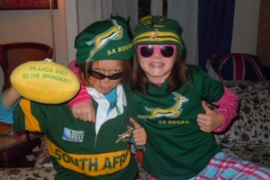 There's a Springboks fever going on. Photo / Matt Johnson
