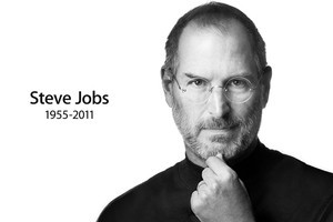 The homepage of Apple.com after the announcement was made that Apple co-founder Steve Jobs has passed away.
