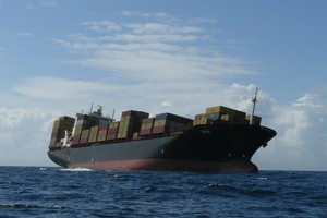 The container ship Rena ran aground near high tide on the Astrolabe Reef at about 2.20am today. Photo / supplied
